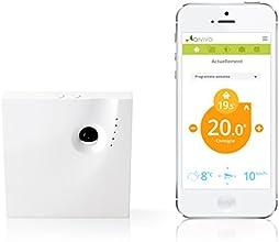 Qivivo Thermostat Connecté pour Smartphone, version gaz/fioul/bois/pompe à chaleur/électrique (contact sec)