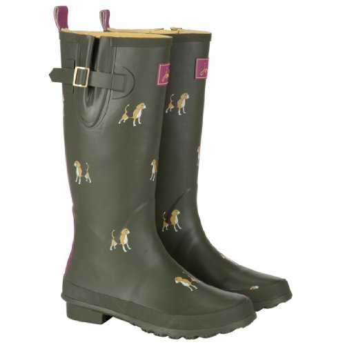 Joules Welly Print Wellington Boots - Navy