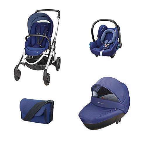 Bébé Confort [TRIO] Elea + Windoo + CabrioFix + borsa River Blue