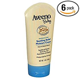 Aveeno Baby Soothing Relief Moisture Cream, 5-Ounce Tubes