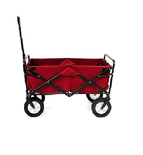Mac Sports Folding Utility Wagon, Red