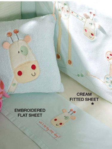 Will I Be Big One Day Cot/Cot Bed Embroidered Flannelette Flat Sheet Nursery