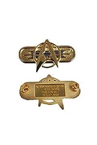 Star Trek Tos Khan Starfleet Badge Rank Pip Brooch Combadge