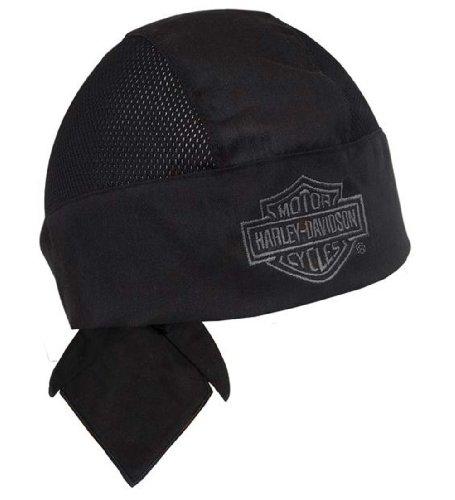 Harley-Davidson Air Flow Bar & Shield Black Head Wrap HW108030 (Harley Skull Cap compare prices)
