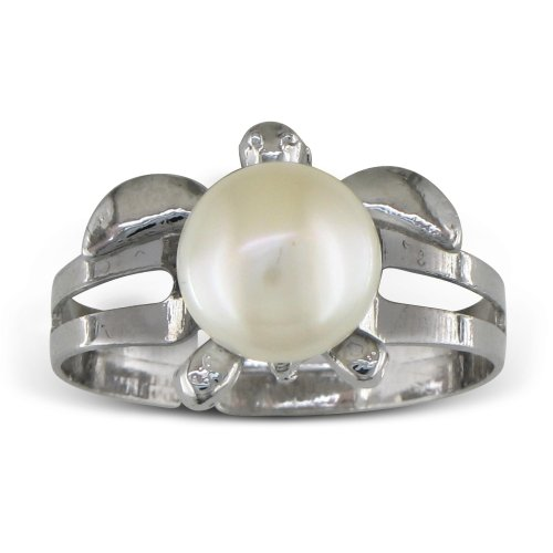 Super Cute Turtle Shaped Freshwater Pearl Ring: Jewelry