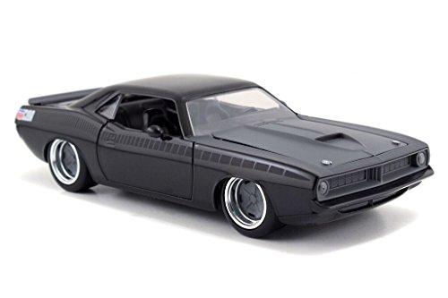 jada-toys-97195mbk-plymouth-lettys-barracuda-fast-and-furious-1970-echelle-1-24-noir-mat