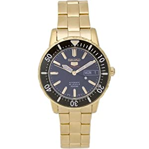Seiko Men's SRP196 Stainless Steel Analog with Black Dial Watch