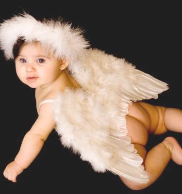 Halo for 6-12 Months Baby Toddlers Photo Props Fairy Cupid Costume.