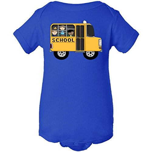 Inktastic Unisex Baby School Bus Infant Creeper 18 Months Royal Blue front-938110