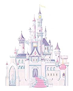 York Wallcoverings RMK2295SLM RoomMates Sofia the First Peel & Stick Giant Wall,,One Size,Castle