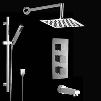 hudson reed ensemble complet mitigeur de douche thermostatique thermostatique. Black Bedroom Furniture Sets. Home Design Ideas