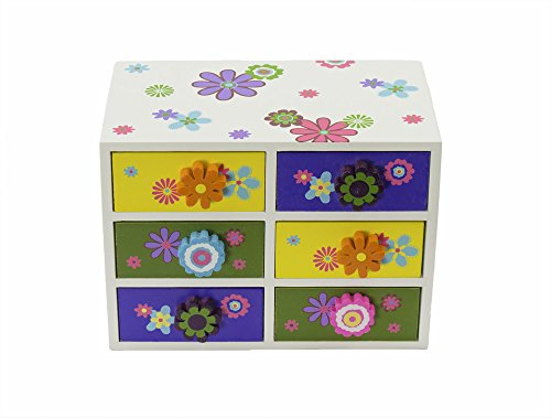 Jewelry Accessories Box Organizer 6 Drawers - 8 x 4.5 x 5.5 inches
