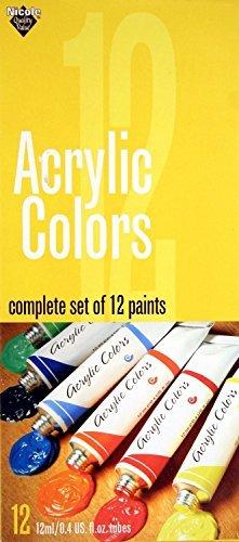 nicole-acrylic-colors-set-12-tubes-12-ml-each