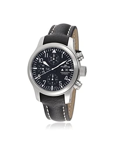 Fortis Men's 656.10.11 L.01 B-42 Flieger Automatic Black Leather Watch