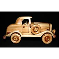 Handcrafted Wooden Toy Car Classic Vintage Model CMC_MODELT_003