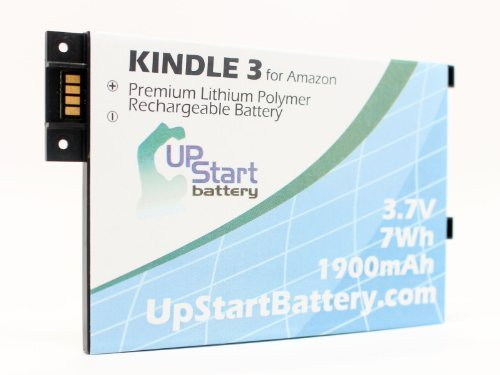 Amazon GP-S10-346392-0100 Battery - Replacement for Amazon Kindle 3 eBook Reader Battery (1900mAh, 3.7V, Lithium Polymer)