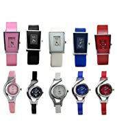 Codice Analogue Multi-Colour Dial Women's Watch-CD142-COM10 (Combo of 10)