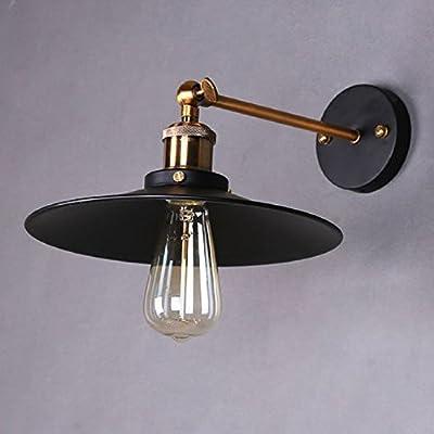 LemonBest® Retro Vintage Blurred Light Wall Lamp Modern Vintage Industrial Metal Wall Lighting Fixtures Diameter 21 cm (Not Include Bulb)