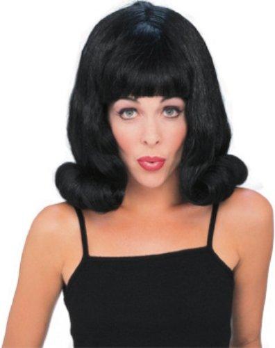 Black 60's Flip Wig