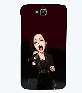 PRINTSWAG SINGING GIRL Designer Back Cover Case for HUAWEI HONOR HOLLY