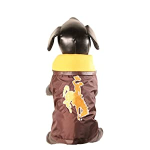 NCAA Wyoming Cowboys All Weather-Resistant Protective Dog Outerwear, X-Large by All Star Dogs