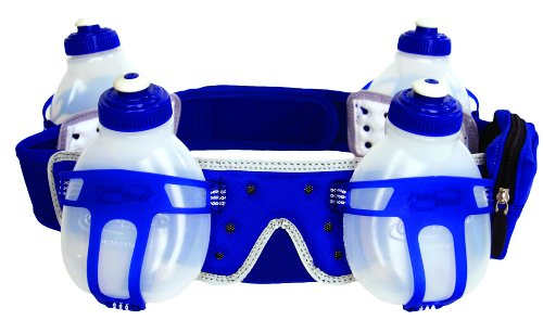 FuelBelt Fuelbelt Revenge 4 Bottle Belt (Royal/White, Large)