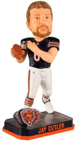 Jay Cutler Chicago Bears Forever Collectibles 2014 Nfl Springy Logo Base Bobblehead