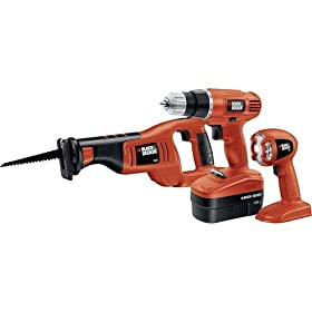 Black & Decker BDC3KIT 18-Volt 3-Tool Cordless Combo Kit