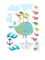 Baleno Vinilo Decorativo Whaleride (Multicolor)