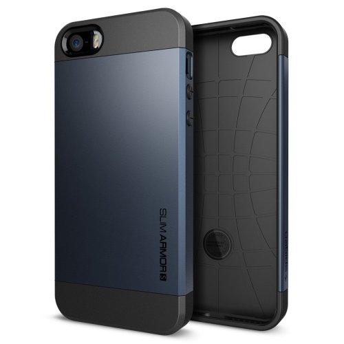 国内正規品SPIGEN SGP iPhone5/5S ケース スリムアーマーS [メタルスレート] SGP10365