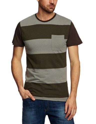 Santa Cruz Joey Printed Men's T-Shirt Vintage Grey Stripe Large