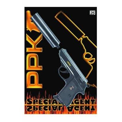 Schnellfeuerpistole mit Schalldämpfer 25 Schuss (0472 Karte)