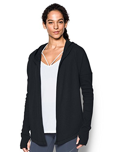 Under Armour Women's Modern Terry Open Front Cardigan, Black (001), Small