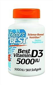 Doctor's Best Vitamin D3 5000iu Soft-gels, 360-Count