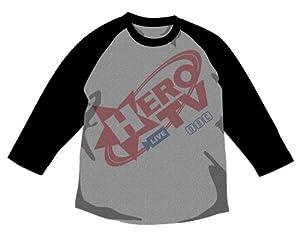 TIGER & BUNNY HERO TV ラグランTシャツ グレイ×ブラック サイズ:L