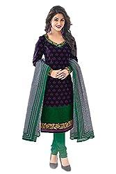 Gugaliya Women's Unstiched Superior Cotton SALWAR,KAMEEZ & DUPATTA Suit ( P510 )