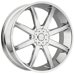 Incubus 840 Empire 28×9.5 Chrome Finish Wheel / 5x115mm 5×139.7mm / 25mm Offset / 83.7mm Hub Bore