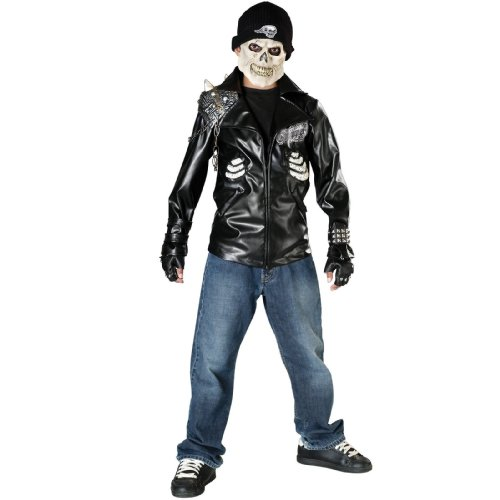 Dead City Choppers Motorcycle Ghost Death Rider Halloween Costume (Child Large)