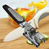 Stainless Steel Handle Kitchen Knife Sharpener Heavy Duty Blade Sharpening Knife