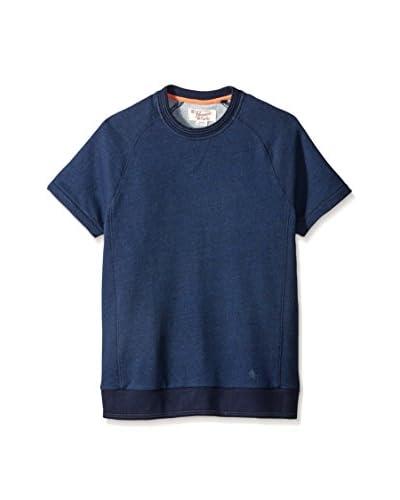 Original Penguin Men's Indigo Piece Dye Crew Neck Shirt