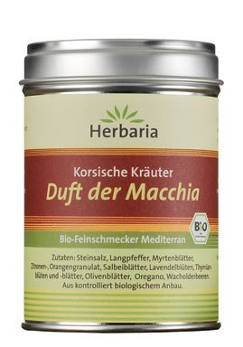 Herbaria Bio Kors. Kräuter Duft der Macchia (1 x 80 gr) von Herbaria-Kräuterparadies GmbH bei Gewürze Shop