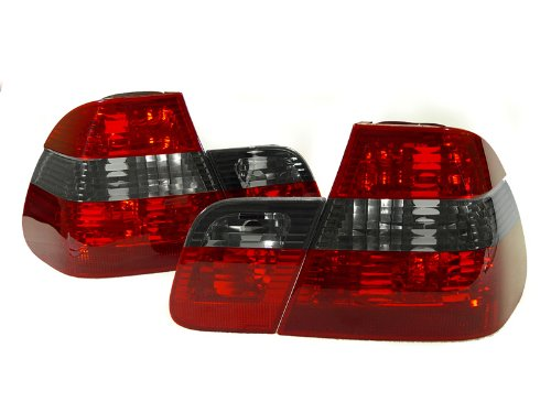 A Pair Of Depo Red And Smoke Lense Tail Lights - Bmw 3-Series E46 4Dr 2002-2005