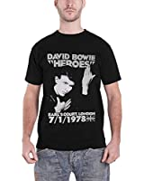 David Bowie Heroes Earls Court 78 new Official Mens Black T Shirt all sizes