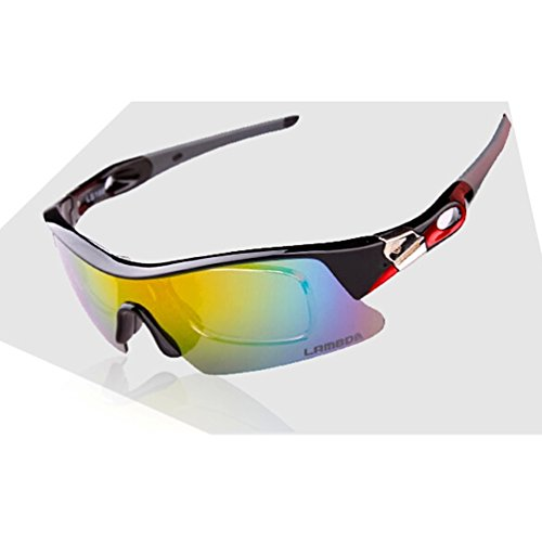 Purchase 4ucycling Lambda Unisex UV 400 Windproof Antiglare Polarized Eyewear with 5 Set Changeable ...