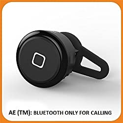 AE Mini Tiny Stereo Bluetooth Headphone Headset Earphones YE-106T with built in MIC for Mobile Phones BLUETOOTH version 4.0 Mobile - Black (ONLY 1 PCS))