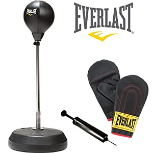 Everlast Free Standing Punch Bag With Bag Gloves