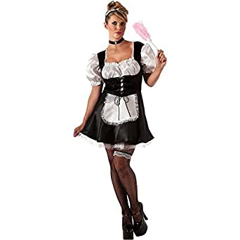 Amazon.com: French Maid Plus Size Costume - Plus Size ...