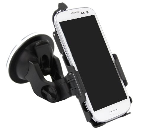Italkonline Sublime Custom Dedicated Suction Mount Rotating In Car Holder For Samsung I9300I Galaxy S3 Neo Iii