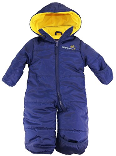 Ixtreme Baby Boys Newborn One Piece Solid Snowsuit, Navy, 3/6M front-919016