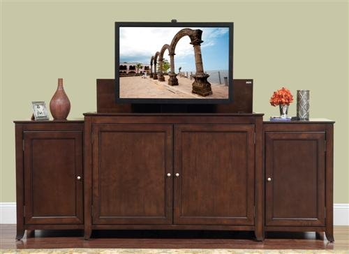 Monterey TV Lift Cabinet with Matching Side Cabinets
